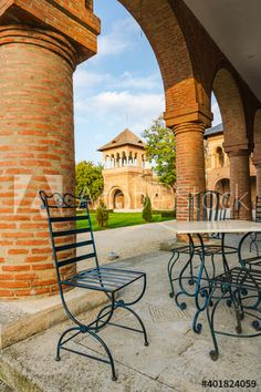 Empty restaurant terrace at touristic spot - Buy this stock photo and explore similar images at Adobe Stock Empty, Terrace, Adobe, Restaurant, Patio, Urban, Stock Photos, Explore, Outdoor Decor