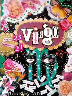 Virgo art print Virgo art Virgo zodiac sign by ThisRosyLife