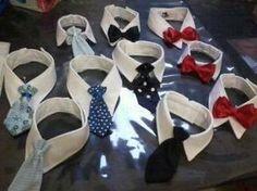 Colarinho com gravata social ou borboleta para cães e gatos