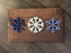 Snowflakes string art
