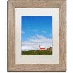 Trademark Fine Art 'Red Bell Tower' Canvas Art by Philippe Sainte-Laudy, White Matte, Birch Frame, Size: 11 x 14, Multicolor