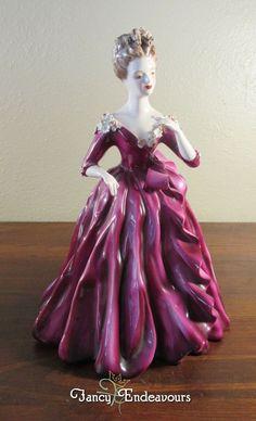 Florence Ceramics Pasadena Princess in Magenta Dress Semi-Porcelain Figurine