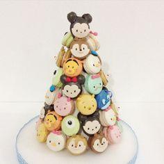 Tsum tsum macaron tower by @delightfullycake on instagram