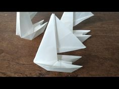 How to make an origami Paper sailboat (Maarten Van Gelder) Origami Sailboat, Sailboat Craft, Origami Templates, Origami Tutorial, Kids Origami, Origami Paper, Used Sailboats, Ship In Bottle, Paper Ship