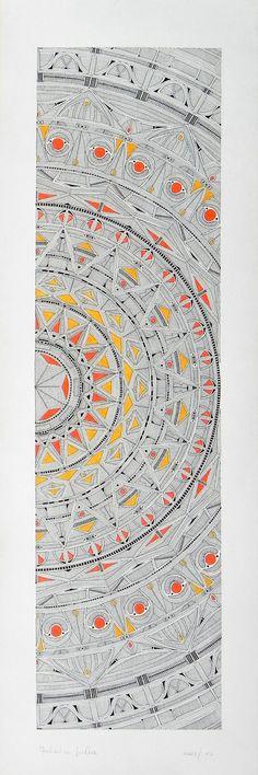 """Federico Cortese: """"Il tappeto del sole"""", ink on paper, 20 x 60 cm."""
