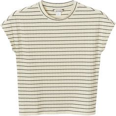 Monki Margo top ($14) ❤ liked on Polyvore featuring tops, t-shirts, shirts, striped t shirt, striped tee, stripe t shirt, shirts & tops and stripe shirt