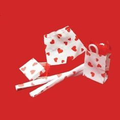 Miniature Heart Gift Wrap - Decorating a Dollhouse for Valentine's Day