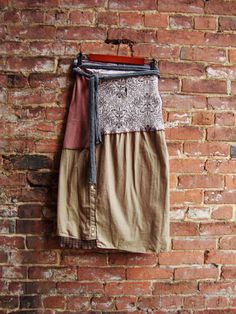 Wrap Skirt in Sepia/ Upcycled Clothing/ Wrap by RebirthRecycling, $65.00