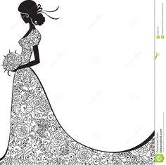 Elegant Bride Clipart | Wedding Concepts - visit here : http://getweddingconcepts.com/