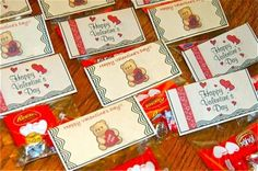 Cheap and Easy way to make Valentines Candy bag toppers. Neat way to personalize it!
