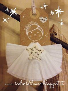 icoloridilaura: Angel's TAG...tutorial di Natale per bambini e mamme creative