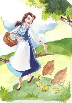 Princess coloring book by TaijaVigilia on deviantART.com. Disney fan art. Beauty and the Beast.