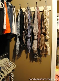 Love this for scarves. So organized and easy to grab.