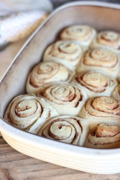 Maple Glazed Cinnamon Rolls - make this dough the night before and wake up to hot, fresh cinnamon rolls covered in sticky, sweet maple glaze