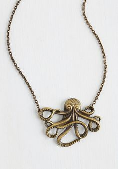 My Pet Octopus Necklace. Meet your new best friend! #gold #prom #modcloth