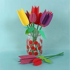 Paper tulips / Tulipes en papier | DeSerres