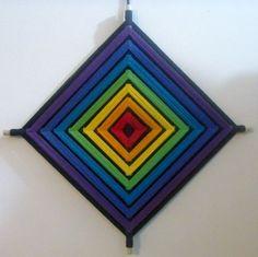 tecendo a vida: Olho de Deus - Brincando com as cores