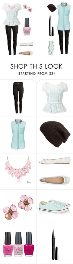 """""""2 Ways To Wear Black Jeans"""" by fluffball962 on Polyvore featuring H&M, Forever New, King & Fifth Supply Co., Gioseppo, Chanel, Converse, OPI and Marc Jacobs"""