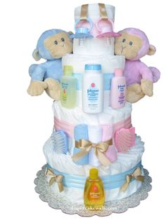 Picture of Twins Diaper Cake