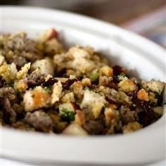 Awesome Sausage, Apple and Cranberry Stuffing Allrecipes.com