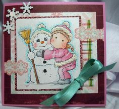 Snowy Hug, Merry Little Christmas collection, Magnolia stamps
