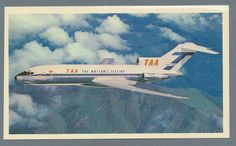 TAA Trans Australia Airlines Boeing B-727 Vintage Card Australian Airlines, Domestic Airlines, Helicopter Plane, Boeing 727, Air New Zealand, Helicopters, Australia Travel, Vintage Cards, Airplanes