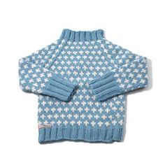 Lovely boy's sweater with retro touch