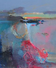 Peter Wileman -  Light Trail with Rose, 50cm x 60cm, oil on canvas