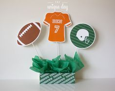 Football Center Piece Birthday Party // FOO-10 by theuniqueday