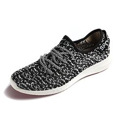 JARLIF Womens Canvas Walking Sneakers  Breathable Running Shoes Black US85 >>> More info could be found at the image url.
