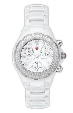 MICHELE 'Tahitian Diamond' Ceramic Bracelet Watch - one of my staple pieces