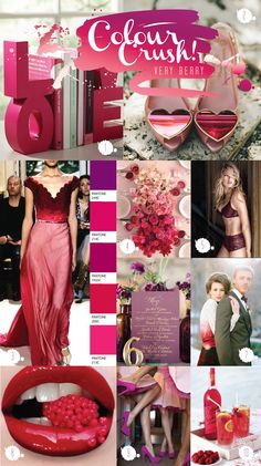Colour Crush Chronicles - Very Berry  Wedding colour inspiration by Paperknots