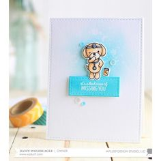 WPlus9 Design Studio Clear Stamps, Get Well Gang -