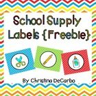 Freebie! Use these adorable labels to organize your school supplies! There are two options available: Labels with pictures only and labels with pictures and...
