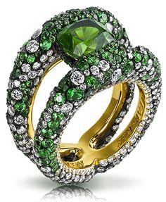 Charmeuse Verte Ring - Les Fauves de Fabergé
