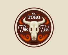 El Toro The Tot Logo Design   More logos http://blog.logoswish.com/category/logo-inspiration-gallery/ #logo #design #inspiration