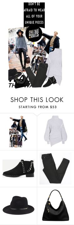 """""""Don't be afraid to wear your unique pieces"""" by no-where-girl ❤ liked on Polyvore featuring STELLA McCARTNEY, WithChic, Maison Margiela, rag & bone, Michael Kors and chelseaboots"""