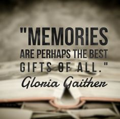 Your action for today is to think about three of your fondest memories. #quoteoftheday #gloriagaither #memories #have2travel #Have2cruise