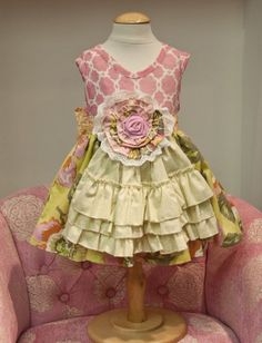 Giggle Moon Spring 2013 line- Faith and Love apron dress~ adorable!