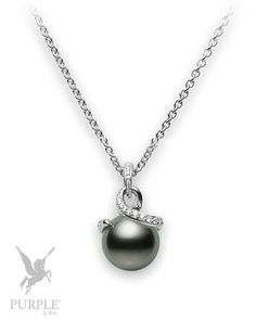This genuinely set pendant features an 11mm Black South Sea cultured pearl with 0.20ct of diamonds set in 18k white gold by @mikimoto #purplebyanki #love #instagood #beautiful #diamond #finejewellry #highjewellry #Pearls