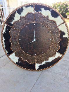 Cowhide Decorative Wall Clocks – Western Decor