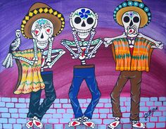 Day Of The Dead See No Evil Hear No Evil Speak No by JEllisonArt, $13.00