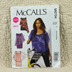 Top and Dress, McCalls M6704 Pattern for Women, Knit, Sleeveless, Overlay, Scoop Neckline, 2013 Uncut, Size 4 6 8 10 12 14, 5-oz by DartingDogPatterns on Etsy