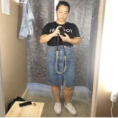 """Our lovely customer @curvasian looks fantastic in her new denim skirt! Thank you so much for your kind words! Repost: """"I was briefly in #Berlin last month to preview how its like living in the city as I fantasised about the idea   Not expecting to do much shopping I stumbled upon @1213bst  Most of the time I get intimidated by nice shop front but that day I felt brave and took the leap   It was the best decision because I was looking for the right denim skirt all summer and as I browse…"""