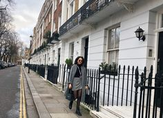 the b diaries what i wore style ootd london scoop fashion buying event trade show oxford street sloane square missguided grey coat penneys primark check skirt asos black turtle neck doc martins style irish blogger blog kylie jenner lipkit boujee