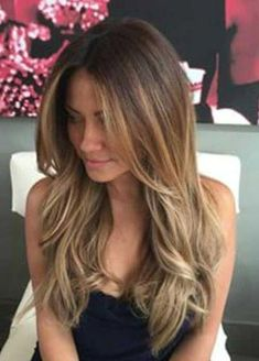 New hair highlights balayage long layered ideas Face Shape Hairstyles, Frontal Hairstyles, Hairstyles With Bangs, Cool Hairstyles, Layered Hairstyles, Hairstyle Short, Hairstyles 2016, Layered Haircuts For Long Hair, Straight Hairstyles For Long Hair