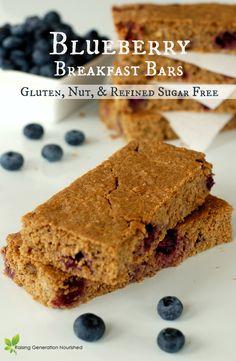 Blueberry Breakfast Bars :: Gluten, Nut, & Refined Sugar Free // Raising Generation Nourished