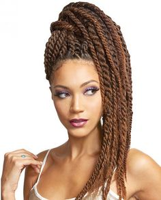Bobbi Boss African Roots Braiding Collection Lock Twist Crochet interlocking, extra smooth, bouncy and easy to manage. Feels like human hair Natural yaki texture Easy to style Tangle free Box Braids Hairstyles, Latest Braided Hairstyles, Try On Hairstyles, Trending Hairstyles, Twist Hairstyles, Hairstyles Videos, Burgundy Box Braids, Box Braids Styling, Natural Hair Styles