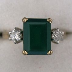 #Diamond And #Green #Agate #Ring 9K #Gold #Jewelry #The #Antiques #Room #Galway #Ireland Vintage Diamond, Vintage Rings, Galway Ireland, Agate Ring, Green Agate, Emerald Diamond, Gold Jewelry, Bling, Engagement