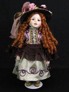 "19"" French Victorian Mundia Createur Doll Christine Et Cecile Porcelain 1997 | eBay"